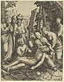 The lamentation of the dead Christ who is supported by the Virgin Mary and surrounded by other figures MET DP852710.jpg