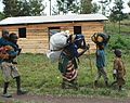 The populations of Mutaho flee into Goma following the second day (21 May 2013) of fighting between M23 elements and FARDC soldiers. MONUSCO reinforces its presence in the area. (8776372983).jpg