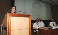 The renowned Badminton player of India, Ms. Saina Nehwal speaking after felicitated by ICAR for her glorious achievement in Badminton, in New Delhi on July 01, 2010.jpg