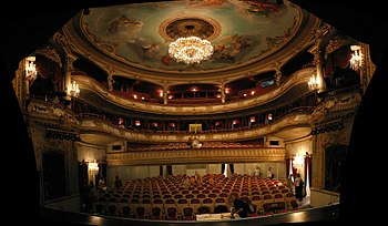 English: Municipal theatre Baden-Baden, German...