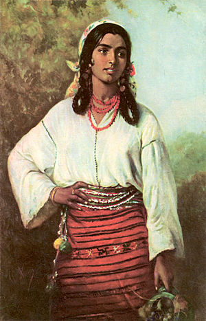 Theodor Aman - Image: Theodor Aman Gipsy Girl, 1884