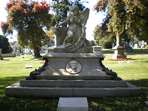 Thomas O. Larkin - Larkin's grave at Cypress Lawn Memorial Park, Colma, California