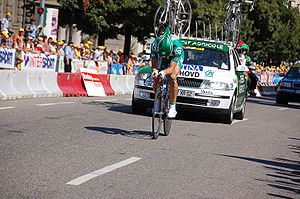Thor Hushovd - Hushovd at the 2006 Tour de France; his win in the prologue was one of two stage wins during the race.
