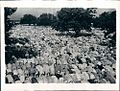 Thousands of Muslims praying during the Eid festival at a mosque in Delhi in 1942.jpg