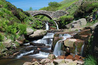 River Dane - The Dane at Three Shire Heads