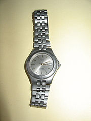 Watch with titanium cover