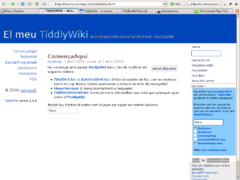 Screenshot di TiddlyWiki