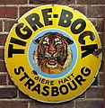 Tigre-Bock, Bière Hatt, Strasbourg enamel advertising sign.JPG