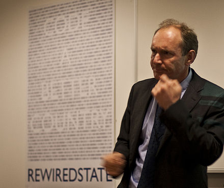 Tim Berners-Lee at the Home Office, London, on 11 March 2010 Timbernerslee.jpg