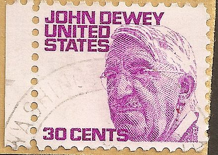 30-cents stamp of the USA figuring John Dewey (21 October 21, 1968)