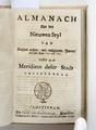 """Titelblad till """"Almanach nae den nieuwen styl"""" För åren 1657-1665 - Skoklosters slott - 93301.tif"""
