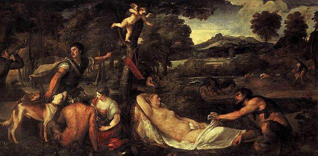 Giove e Antiope Tiziano
