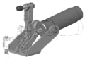 Toggle-clamp pneumatically 3D opened outline.png