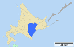 Location of Tokachi Subprefecture