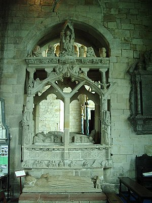 John Harington, 1st Baron Harington - Image: Tomb,The Priory Church of St Mary and St Michael, Cartmel geograph.org.uk 447163
