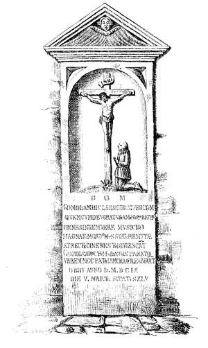 Mikołaj Gomółka - Tomb effigy of Mikołaj Gomółka in Yazlovets
