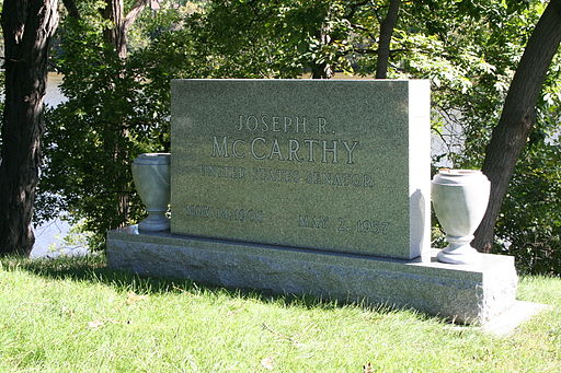 Tombstone of Joseph McCarthy from right