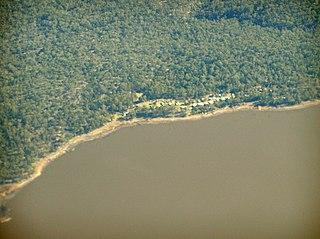 Tooms Lake Town in Tasmania, Australia