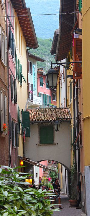 Nago–Torbole - Via Segantini, a back street in Torbole.