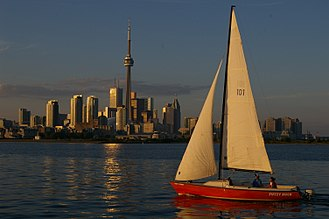 Toronto Harbour - The Toronto skyline as seen from the Toronto Harbour