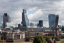Torre 42, Walkie-Talkie y edificio Leadenhall, Londres, Inglaterra, 2014-08-11, DD 120