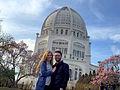Tourists at Bahá'í House of Worship.jpg