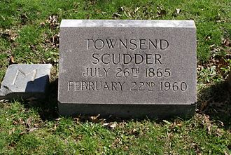 Townsend Scudder - The grave of Townsend Scudder