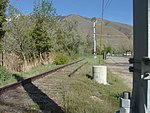 Tracks beyond TRAX Blue Line southern terminus, Apr 15.jpg