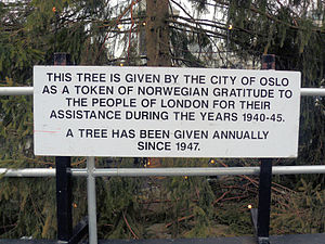Londons Christmas Tree In Trafalgar Square Is Donated Each Year By Which Country.Norway United Kingdom Relations Wikipedia