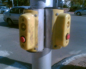 Traffic light aid for the blind, Herzliya, Israel