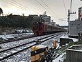 Train for Minami-Fukuoka Station near Kyushu Sangyo University 20180206-2.jpg