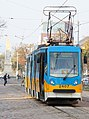 Tram in Sofia near Russian monument 006.jpg