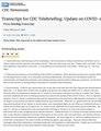 Transcript for CDC Telebriefing- Update on COVID-19, February 21, 2020.pdf