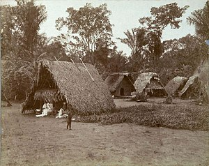 Pierre Victor, baron Malouet - Maroon village, picture from the Royal Tropical Institute