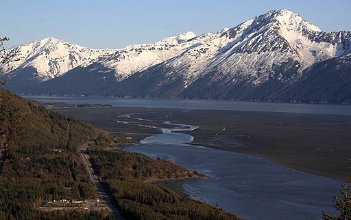 Turnagain Arm and Kenai Mountains