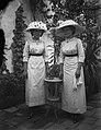 Twins, women, yard, hat, fashion Fortepan 500.jpg