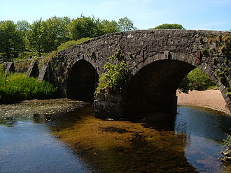 Two Bridges, Devon - The old bridge