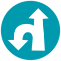 U-Turn Left Straight Ahead (Israel road sign).png