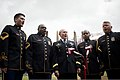 U.S. Army Chorus accompanies the Chairman of the Joint Chiefs of Staff Gen. Martin E. Dempsey to sing the national anthem prior to Thursday's Major League Baseball game between the Washington Nationals 130704-D-VO565-010.jpg