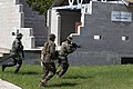U.S. Marines and Ecuadorian naval infantrymen conduct cordon-and-search training during UNITAS-Partnership of the Americas 2012 at Camp Blanding, Fla., Sept 120905-M-IQ646-007.jpg