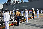U.S. Naval Sea Cadet Corps (NSCC) members man the rails of USS Kearsarge.jpg