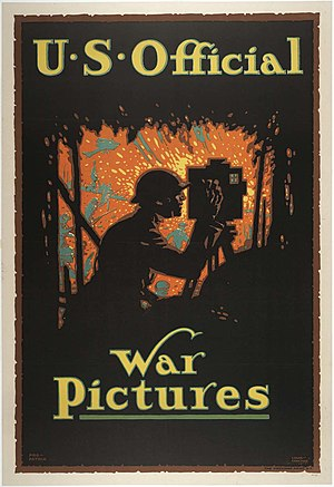 "Committee on Public Information - ""U.S. Official War Pictures"", poster by Louis D. Fancher"