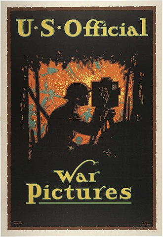 "Presidency of Woodrow Wilson - ""U.S. Official War Pictures"", CPI poster by Louis D. Fancher"