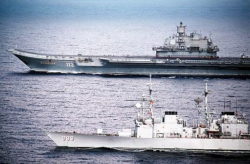 USS Deyo with Admiral Kuznetsov