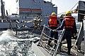 USS Jason Dunham performs a replenishment-at-sea. (8407485491).jpg