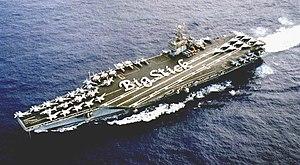 USS Theodore Roosevelt (CVN-71) - Theodore Roosevelt underway in 1999
