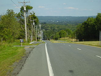 U.S. Route 20 in New York - Typically rugged stretch of 20 in Central New York