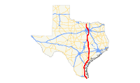 US 77 (TX) map.svg