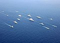 US Navy 050711-N-4374S-003 Eighteen multinational ships and two submarines underway in formation for UNITAS 46-05 Pacific Phase.jpg