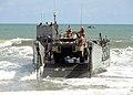 US Navy 051020-N-9999W-001 A U.S. Navy Landing Craft, Utility (LCU) prepares to leave the beach of Ghana.jpg